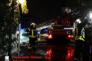 F2 – Rauchentwicklung im Dachgeschoss  Uelzen – Gudesstraße  26.03.2019