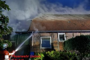 F2 – Scheunenbrand – Wohnhaus in Gefahr - Klein Bollensen  13.08.2019