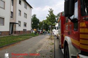 Hilfeleistung – – Aufräumarbeiten – LKW hat Landung verloren - Kreuzung Esterholzer Straße  18.07.2019