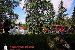 Verkehrsunfall – eingeklemmte Personen B4 – OV Holdenstedt – Suderburger Kreisel  07.07.2019