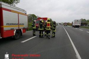 Verkehrsunfall Groß – eingeklemmte Person – PKW gegen LKW B4-Uhlenring – Abfahrt Bad Bodenteich 02.05.2019