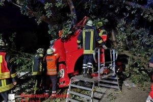 VU - PKL - LKW gegen Baum - B191 - Neumühle  12.08.2019