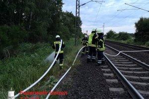 WB1 – Bahnböschungsbrand  Veerßen – Bahnstrecke 1720 - 09.06.2019
