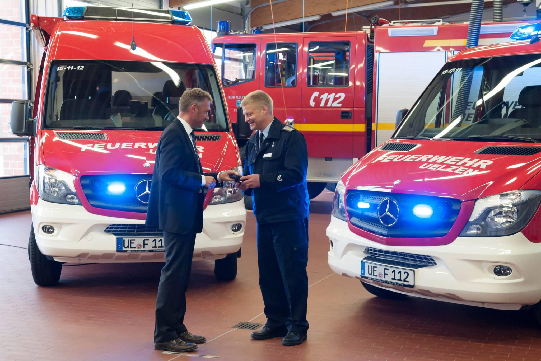 Zwei Sterne bei der Feuerwehr Uelzen