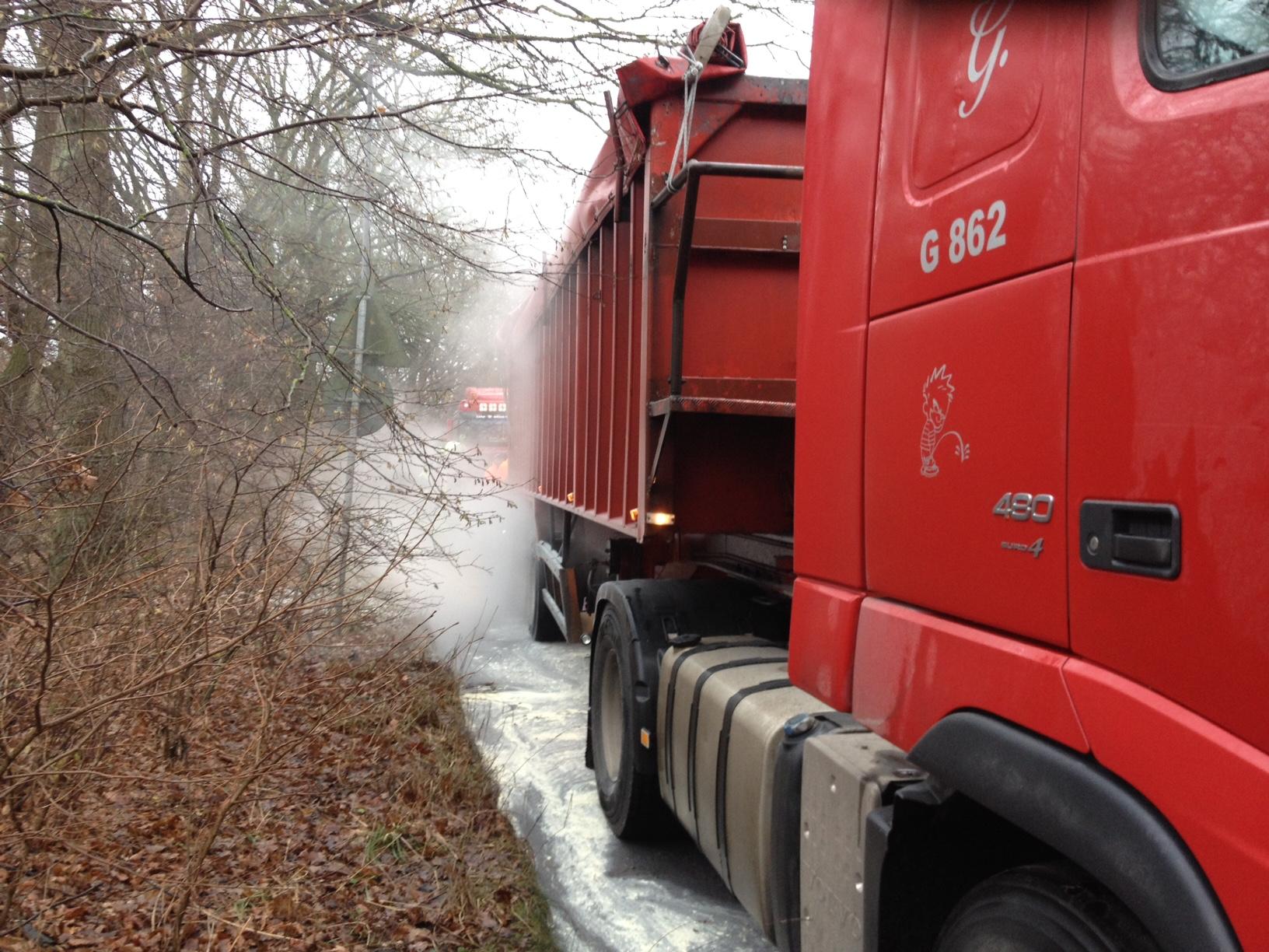 201. Brennt LKW Reifen / Bremse