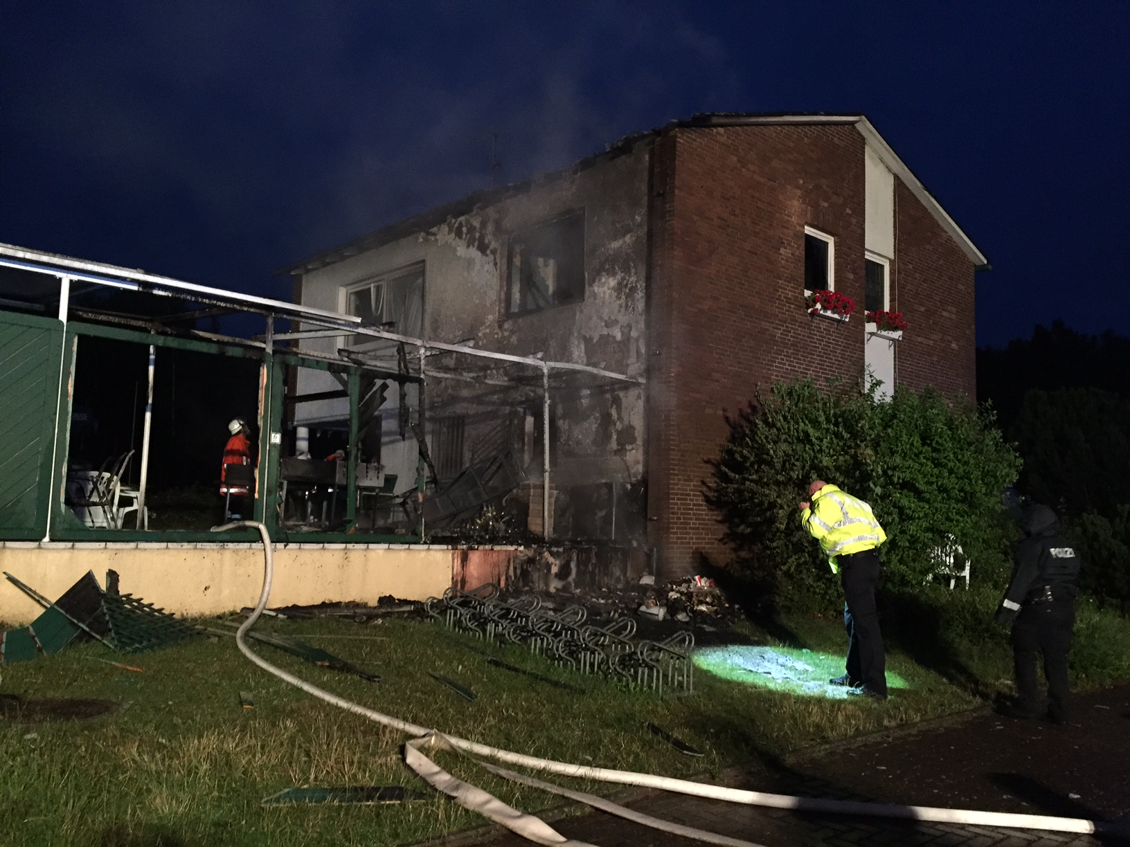 141. Gebäudebrand