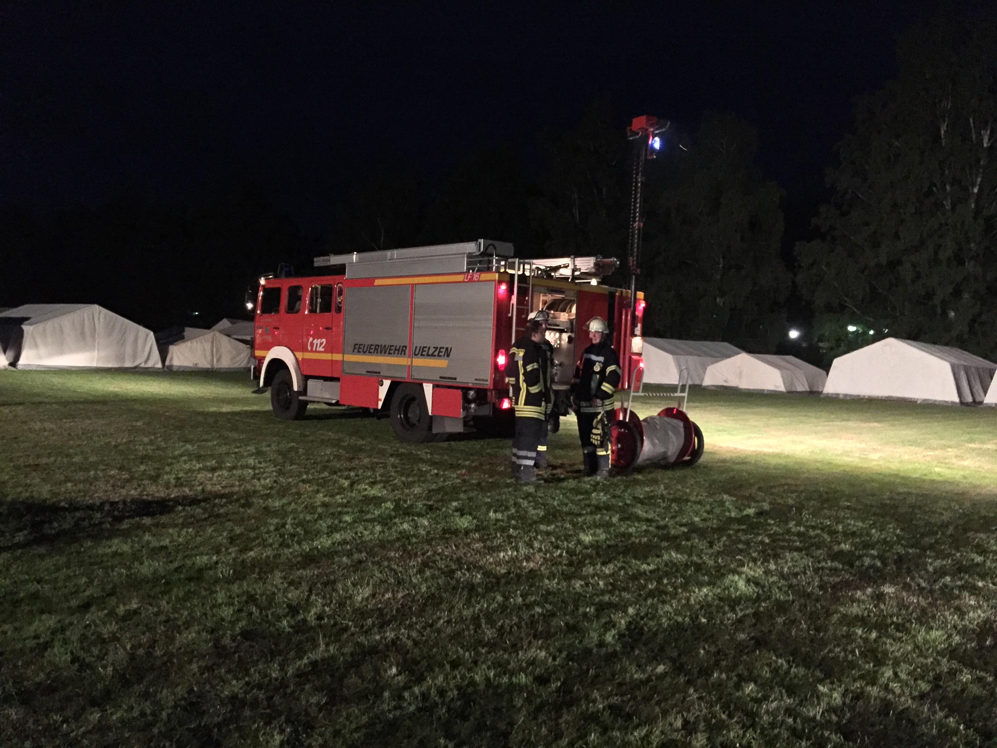 137. Hilfeleistung nach Unwetter auf JF - Zeltlager