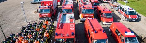 Alle drei Gefahrgutzüge des Landkreises Uelzen üben gemeinsam am Elbe-Seitenkanal