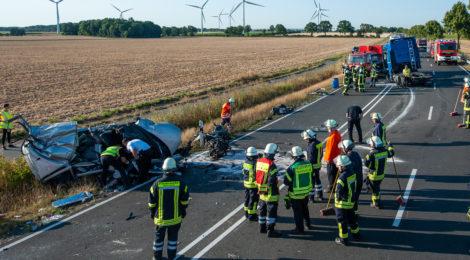 Verkehrsunfall auf der B4 Ortsverbindung Tätendorf – Kirchweyhe