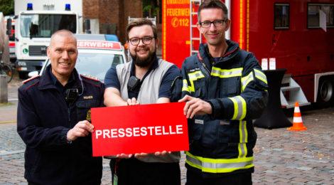 Feuerwehr-Pressesprecher aus Uelzen und Ebstorf zur Unterstützung des Lüneburger Pressestabes beim LFV-Jubiläum im Wochenendeinsatz