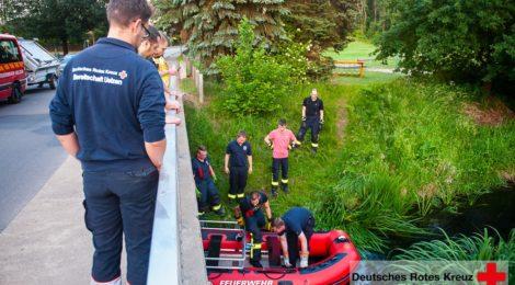106. Hilfeleistung -- Anforderung Schlauchboot - Personensuche
