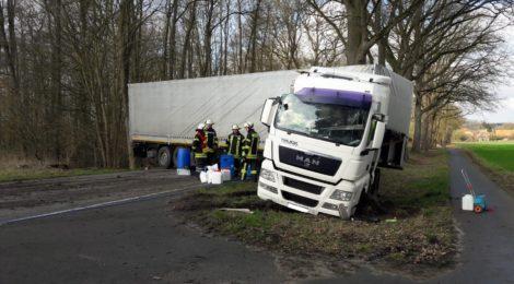 049. GefG1 - Auslaufende Betriebsstoffe nach Verkehrsunfall