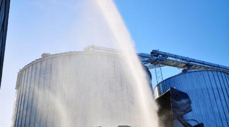 065. F1 - Nachlöscharbeiten - Kohlehaufen - Kohleumschlagplatz